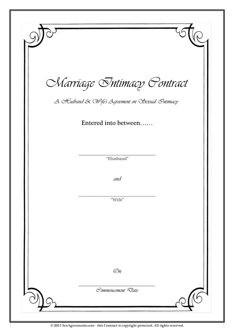 Marriage Sex Contract