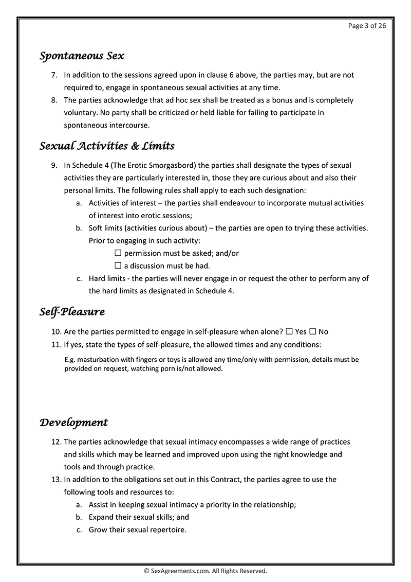Example contract marriage sex Free Sexual