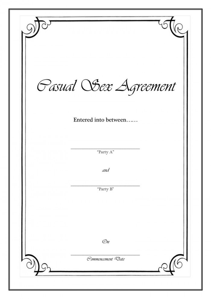 Casual Sex Agreement