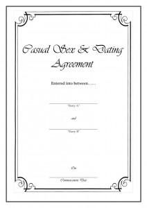 Casual Sex and Dating Agreement