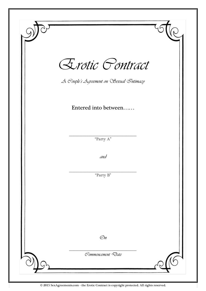 Erotic Sex Contract for Couples